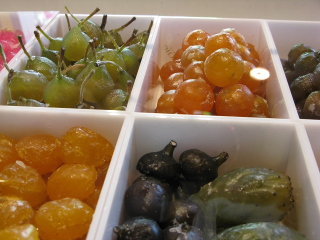 Christmas candied fruits